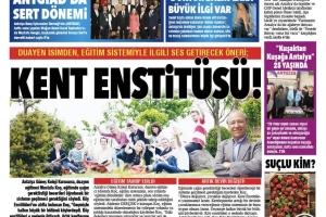 Kent Enstitüsü Önerisi Gazetede Manşet oldu / 2019