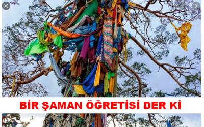 Bir Şaman Öğretisi Der ki