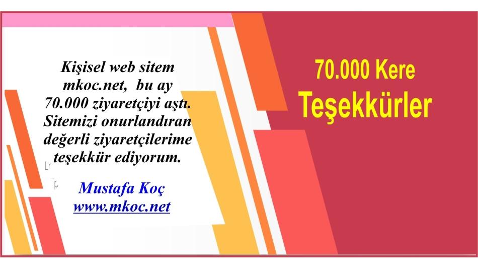 70.000 Kere Teşekkürler